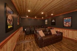 theater room in gatlinburg cabin